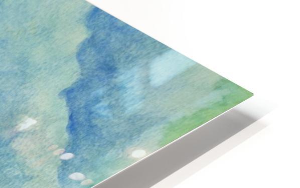 Aqua Sky Ocean Scene HD Sublimation Metal print