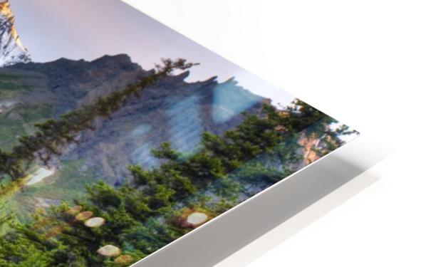 Reflection Of Skookum Volcano HD Sublimation Metal print
