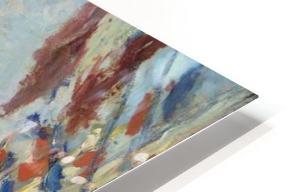 Monet - The Rue Montorgueil in Paris HD Sublimation Metal print