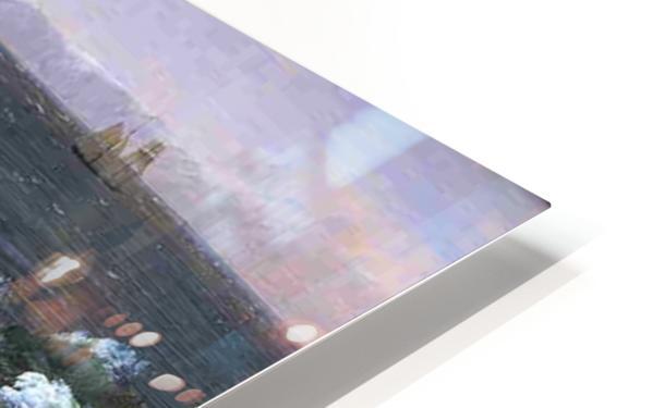 Fog off Mount Desert 1850 HD Sublimation Metal print