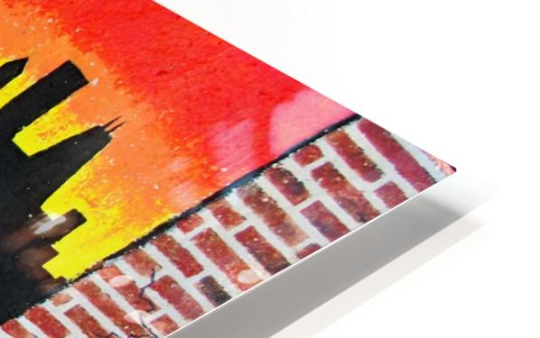 Chicago - Bench Art in Rogers Park HD Sublimation Metal print