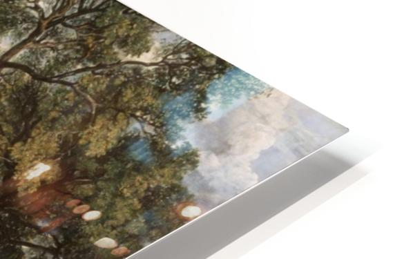 Scene on a Navigable River HD Sublimation Metal print