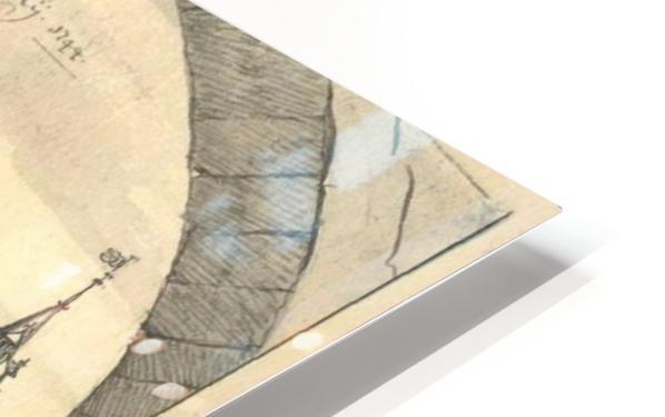 Kasteel Doorwerd 1744 HD Sublimation Metal print