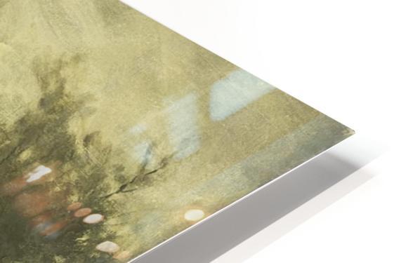 Landschap met boerderij bij een plas HD Sublimation Metal print