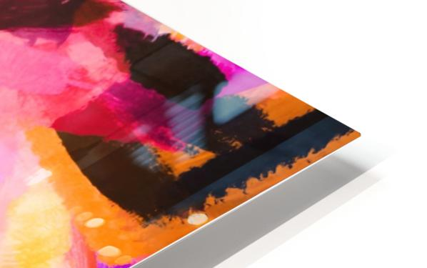 pink purple yellow brown painting texture abstract background HD Sublimation Metal print