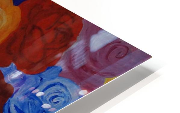 Colorful roses HD Sublimation Metal print