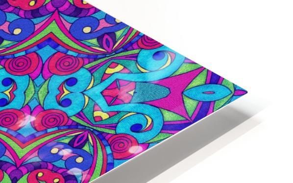 Drawing Floral Doodle G1B HD Sublimation Metal print