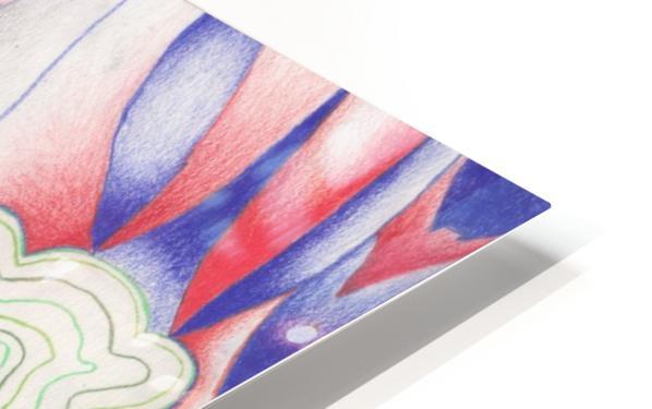 the color of Rain HD Sublimation Metal print