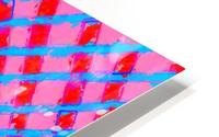 line pattern painting abstract background in pink red blue HD Metal print