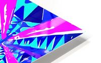 psychedelic geometric abstract pattern background in blue pink purple HD Metal print