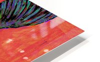 HUMMINGBIRD ON ORANGE HD Metal print
