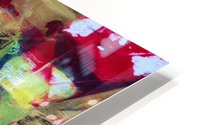 Trieste a Red and Gold Abstract painting HD Metal print