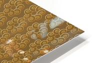 Swirl Flower Seamless Pattern Artwork HD Metal print