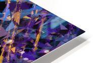 splash geometric triangle pattern abstract background in blue purple yellow HD Metal print