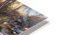 Log Block Creek HD Metal print