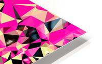 geometric triangle pattern abstract in pink and black HD Metal print