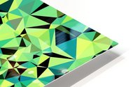 geometric triangle pattern abstract in green blue black HD Metal print