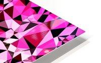 geometric triangle pattern abstract in pink blue black HD Metal print