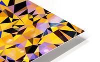 geometric triangle pattern abstract in orange blue yellow HD Metal print