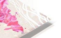 Pink Rose Petals Watercolor Map Of The World HD Metal print