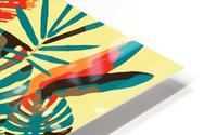 Colorful Abstract Tropical Leaves  HD Metal print