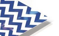 ROYAL BLUE CHEVRON HD Metal print