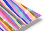 Wavy Stripes Abstract  HD Metal print