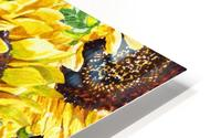 The Filed Of Watercolor Sunflowers Pattern HD Metal print