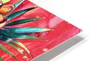 Vibrant Colors Tropical Floral HD Metal print