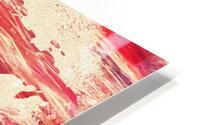 Watercolor Silhouette World Map Pink Terra HD Metal print