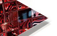 Red Glass Tiles 3 HD Metal print