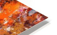 A jumping orange horse HD Metal print