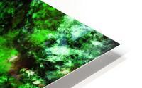 Green burst HD Metal print