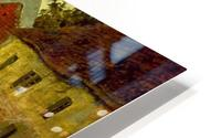 Village on the Bank of a Stream HD Metal print