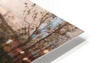 Soleil couchant sur l'Arques a Pequigny HD Metal print