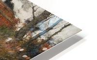 French River Landscape with a Stone Bridge HD Metal print