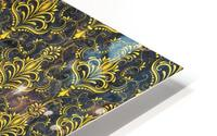 Golden pattern with marble HD Metal print