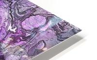 Purple Marble HD Metal print