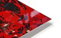Black & Red Marble II HD Metal print