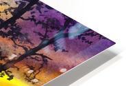 Bright Sunset Through The Trees HD Metal print