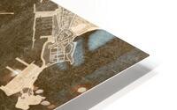 Sepia vintage map of Ibiza Spain HD Metal print