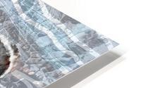 Silver Gray Seashell On Ocean Shore Waves And Rocks I HD Metal print