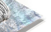 Silver Gray Seashell On Ocean Shore Waves And Rocks II HD Metal print