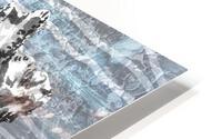 Silver Gray Seashell On Ocean Shore Waves And Rocks III HD Metal print