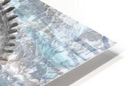 Silver Gray Seashell On Ocean Shore Waves And Rocks IV HD Metal print