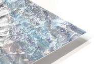 Silver Gray Seashell On Ocean Shore Waves And Rocks V HD Metal print