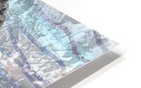 Silver Gray Seashell On Ocean Shore Waves And Rocks VII HD Metal print