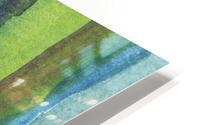 Ocean And Sea Beach Coastal Art Organic Watercolor Abstract Lines IV HD Metal print