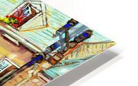 LE JARDIN NELSON OLD MONTREAL RESTAURANT SUMMER STREET SCENE HD Metal print