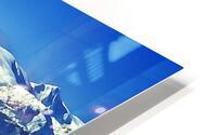 Comox Glacier and Herring Boat HD Metal print
